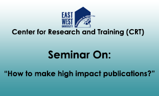 Seminar on 'How to make high impact publications?'