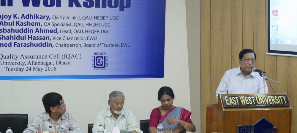 East West University Arranges a Workshop