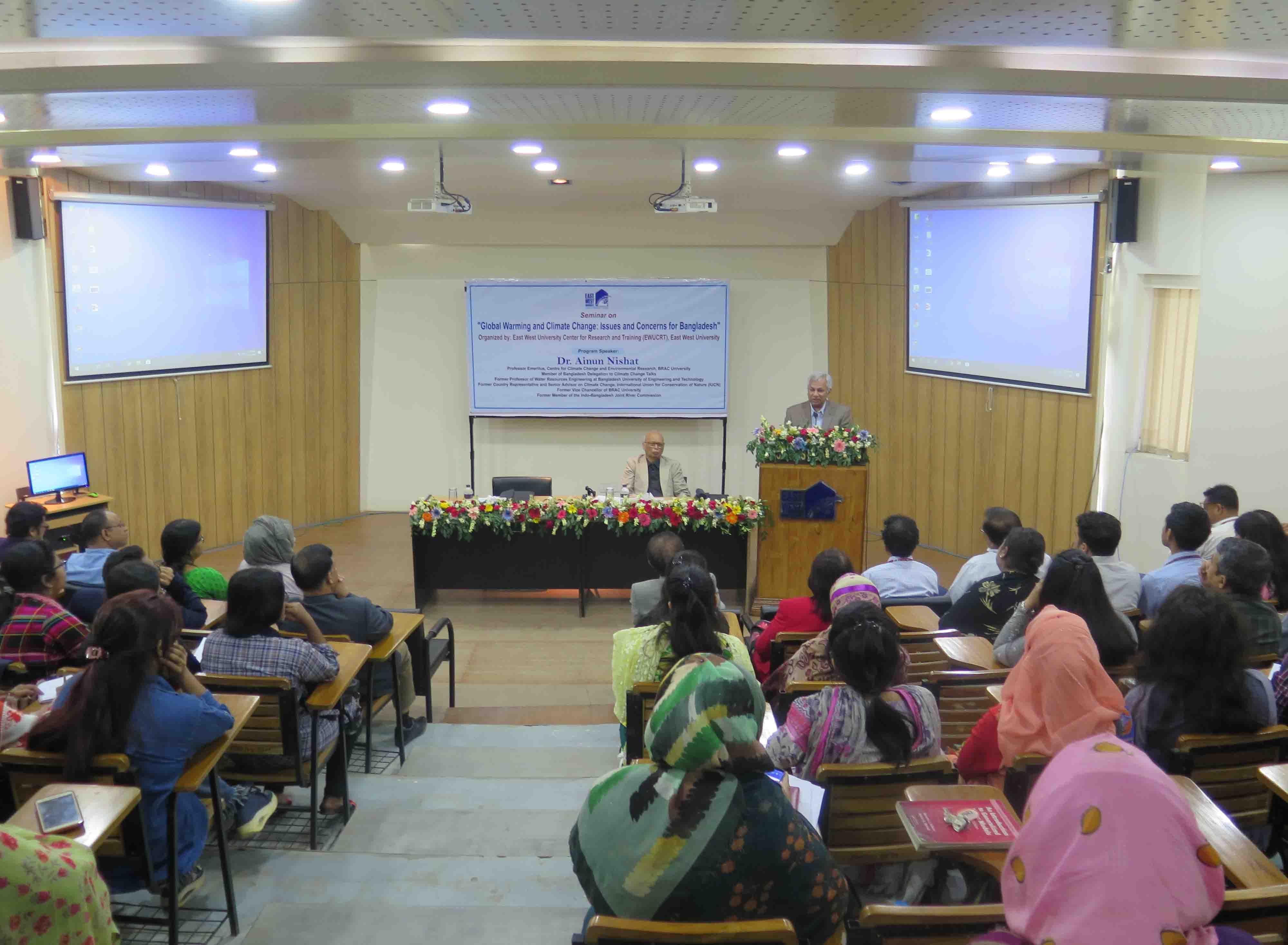 EWU-CRT Organizes a Knowledge Sharing Seminar on Climate Change