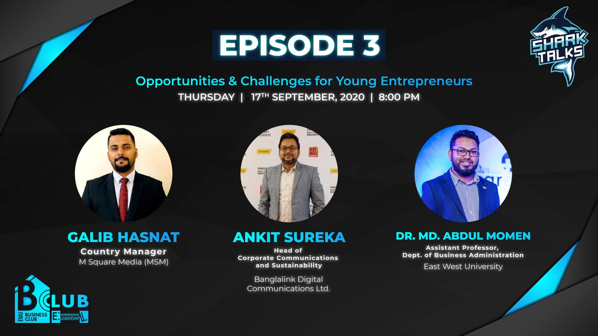 SHARK TALKS: Opportunities and Challenges for Young Entrepreneurs