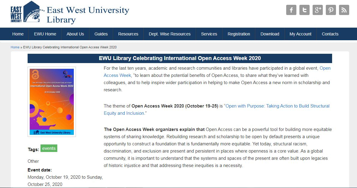 Celebrating International Open Access Week 2020 at...
