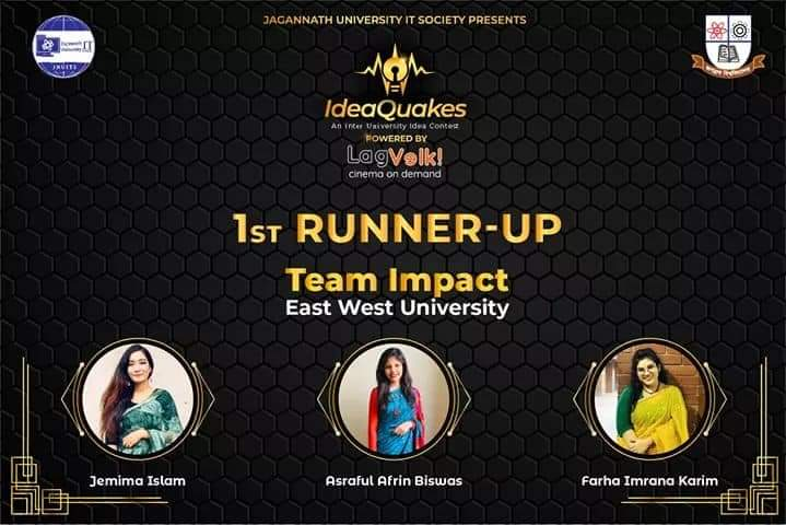 East West University Sociology Club team acquired the position of 1st Runner Up in an Inter-Universi...