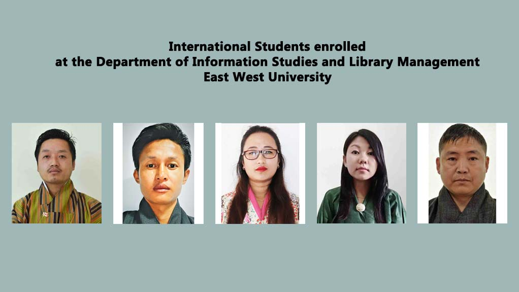 International Students enrolled at the Department of Information Studies and Library Management, Eas...