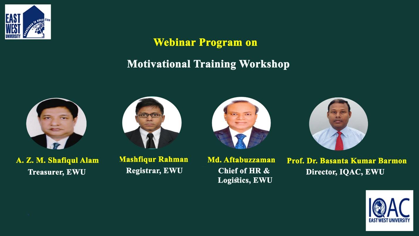 "Webinar on ""Motivational Training Workshop"" on 27 March 2021"